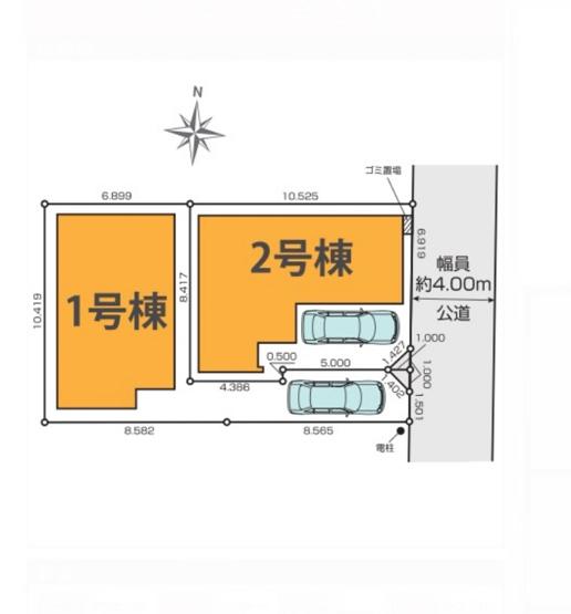 【区画図】練馬区東大泉1丁目 6,690万円 新築一戸建て【仲介手数料無料】