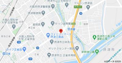 【地図】エステート三島