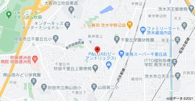 【地図】ライオンズマンション千里丘