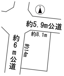 【区画図】56431 岐阜市八ツ梅町土地