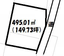 【区画図】埼玉県大里郡寄居町用土 中古住宅