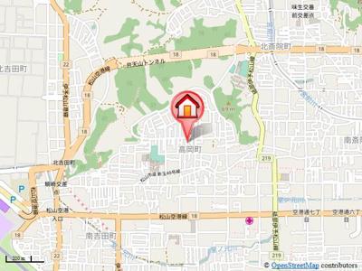 【地図】リビングタウン高岡Ⅱ