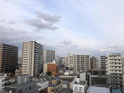 9階部分のお住まいにつき眺望も良好です。