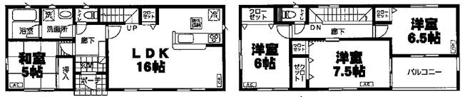 【地図】松本町新築戸建 第1 4号棟
