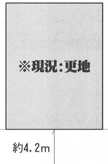 【土地図】東松山市石橋 建築条件なし売地 「森林公園」徒歩26分 敷地34坪