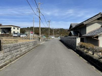 B号地 前面道路