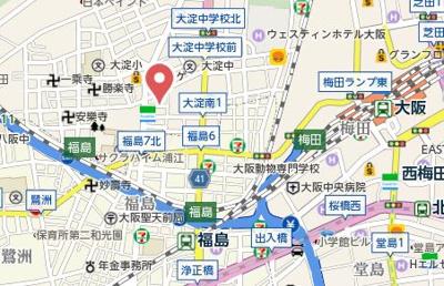 【地図】ランドセントラル梅田