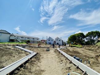 【前面道路含む現地写真】【発売開始】 菱沼海岸 開発分譲地全14区画