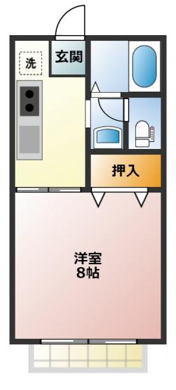 洗面所が独立している1Kのお部屋です♪