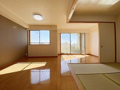 全室6帖以上のゆとりの間取り、おふたり暮らしにもおすすめ。