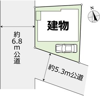 【区画図】練馬区土支田2丁目 中古戸建