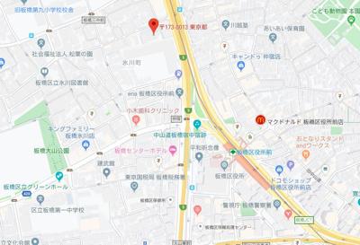 【地図】ガーデン板橋氷川町