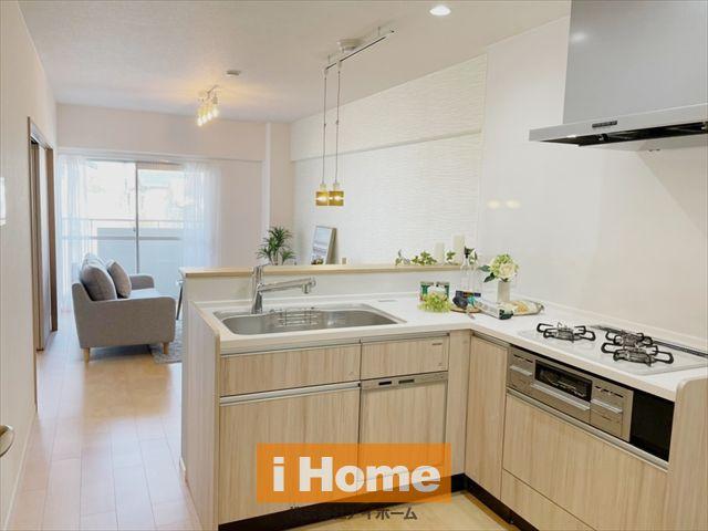 キッチン交換しています!(食洗機付) 使い勝手の良いL型キッチンです。