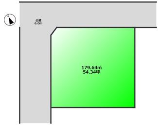 南ひな壇で日当たりのよい角地!敷地約54坪と広々!