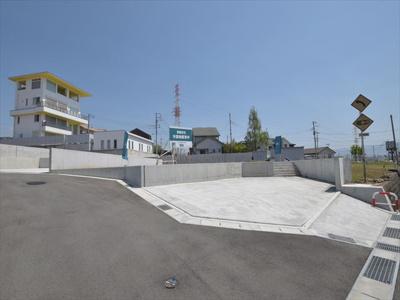 区画No6 南側より撮影 モデルハウス建築予定区画