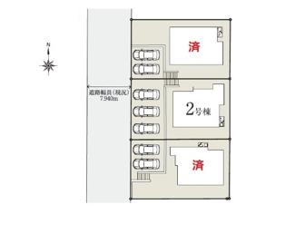 【区画図】多摩市桜ケ丘3丁目 全3棟 2号棟 仲介手数料無料
