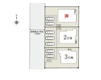 【区画図】多摩市桜ケ丘3丁目 全3棟 3号棟 仲介手数料無料