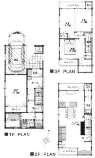 千葉市中央区寒川町 新築一戸建て 本千葉駅 3LDKSの3階建てです!
