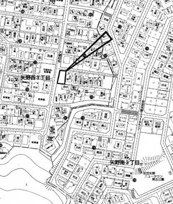 【区画図】安芸区矢野西3丁目