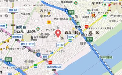 【地図】フジパレス塚本