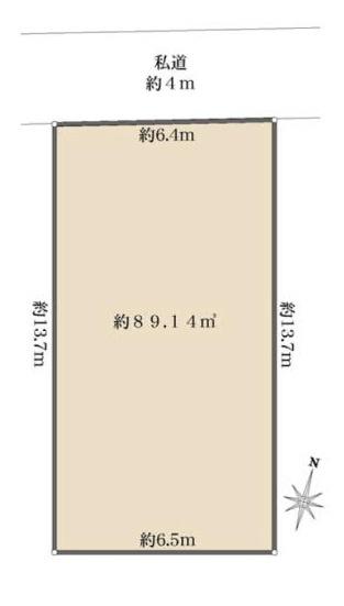 【土地図】東灘区鴨子ケ原3丁目売土地