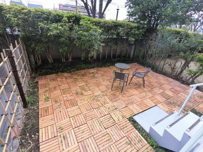 32.24平米の専用庭です。