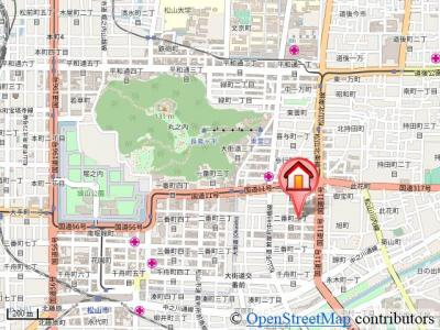 【地図】松山ウェスティン