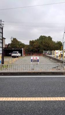【前面道路含む現地写真】米田町船頭売地