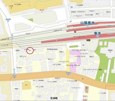【地図】宮本町土地