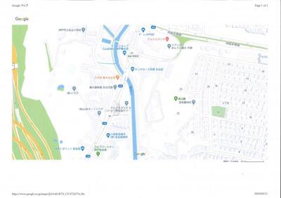 【地図】神戸市垂水区名谷町字横尾