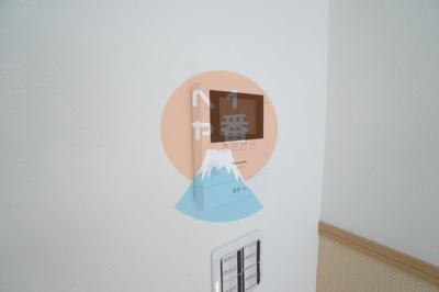 TVモニター付きインターホンで安心ですね。
