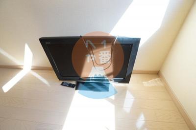 うれしいテレビ付きです。