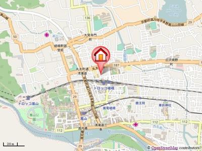 【地図】ヤングヴィレッジ嵯峨