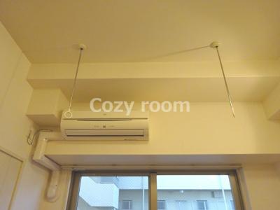 エアコン及び室内物干しです