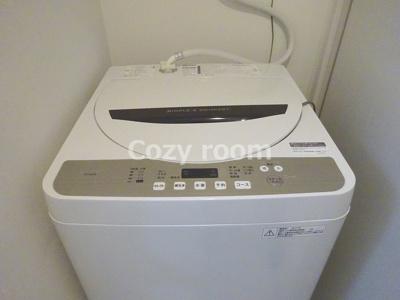 洗濯機つきです