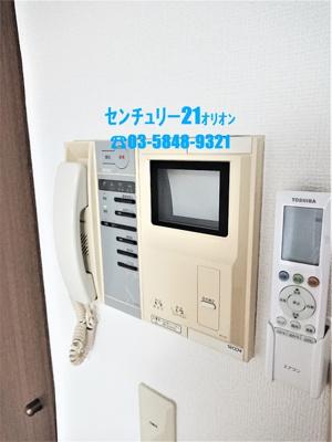 TVモニタ付インタホンの室内モニタです