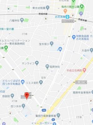【地図】ラ・ルーチェ四つ木