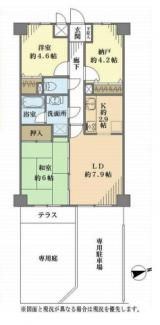 2LDK+S、価格1490万円、専有面積58.57m2、バルコニー面積3.05m2