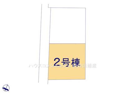【区画図】名古屋市港区船頭場2丁目640【仲介手数料無料】新築一戸建て 2号棟