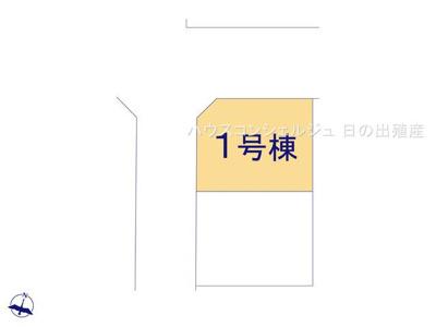 【区画図】名古屋市緑区六田2丁目163【仲介手数料無料】新築一戸建て 1号棟