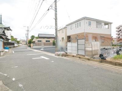 【前面道路含む現地写真】名古屋市中川区前田西町1丁目 新築一戸建て 2号棟