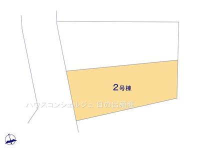 【区画図】名古屋市中川区前田西町1丁目 新築一戸建て 2号棟