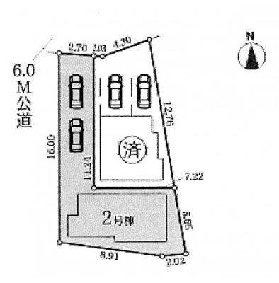 【区画図】名古屋市昭和区滝子町15−2【仲介手数料無料】新築一戸建 2号棟