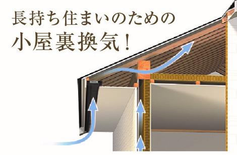 長持ち住まいのための小屋裏換気! 湿気と熱気がこもりやすい小屋裏の換気は快適な暮らしの必須条件!