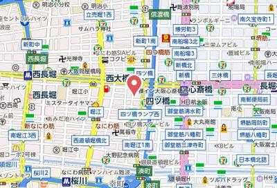 【地図】フォレステージュ北堀江