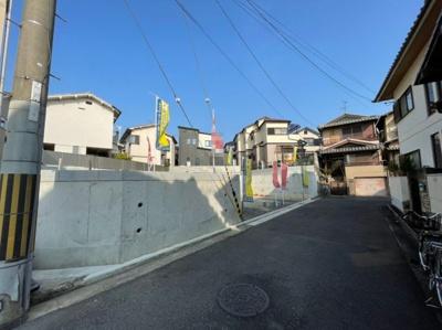 【前面道路含む現地写真】堺市西区平岡町 土地