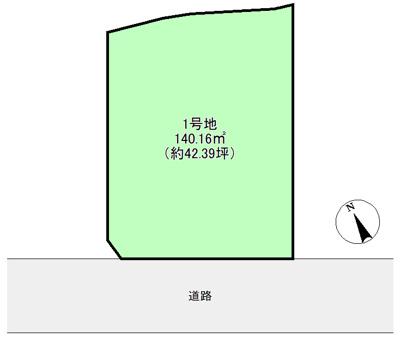 【土地図+建物プラン例】堺市西区平岡町 土地