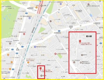 【地図】SMILEAX吉塚