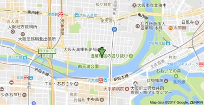 【地図】エステムコート大阪城北 天満の杜