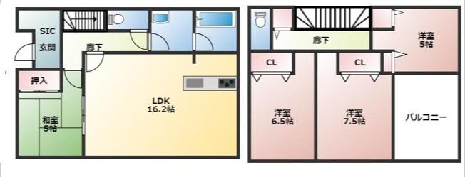 甲斐市中下条 第3 新築分譲住宅